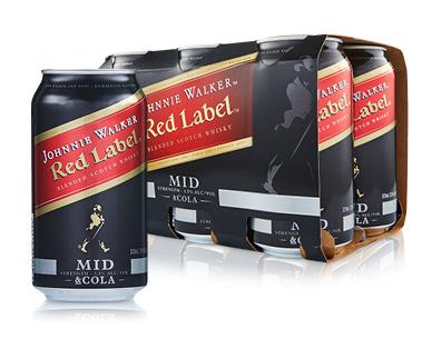 Johnnie Walker & Cola Mid6 x 375ml
