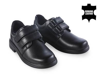 Premium Double Strap Leather School Shoes