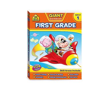 School Zone First Grade Giant Workbook
