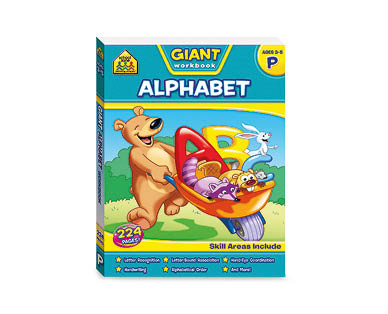 School Zone Alphabet Giant Workbook