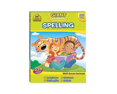 School Zone Spelling Giant Workbook