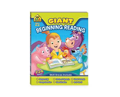 School Zone Beginning Reading Giant Workbook
