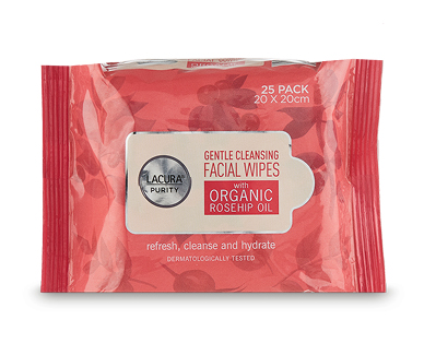 Gentle Cleansing Facial Wipes 25pk