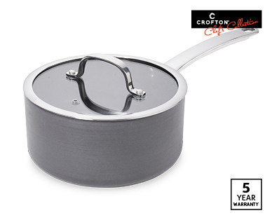 Hard Anodised Individual Saucepan With Lid 18cm Or 20cm