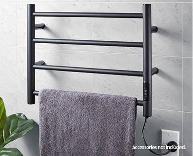 4 Bar Heated Towel Rail Aldi Australia