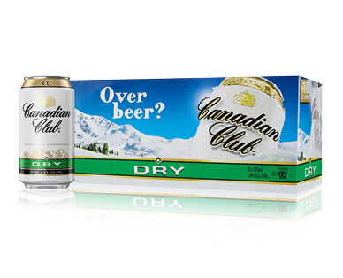 Canadian Club and Dry 10 x 375ml