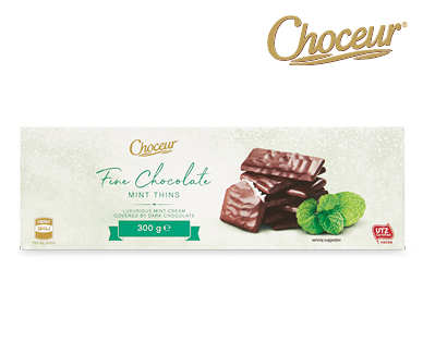 Fine Chocolate Mint Filled Thins 300g