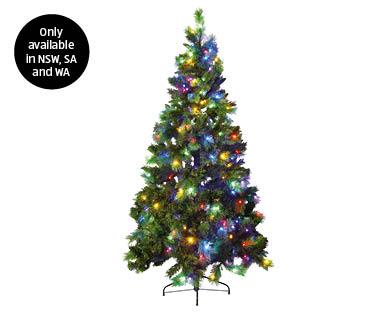 Winchester Luxury Pre Lit Led Christmas Tree 7ft 213cm Aldi Australia