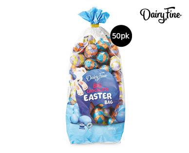 DAIRY FINE Big Chocolate Easter Egg Bag 500g