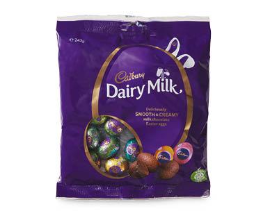 CADBURY Dairy Milk Chocolate Easter Egg Bag 243g