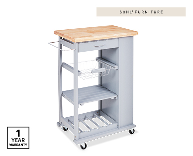 Grey Kitchen Trolley