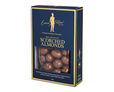 Ernest Hillier Milk Chocolate Coated Scorched Almonds 240g