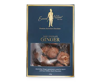 Ernest Hillier Milk Chocolate Coated Dark Chocolate Ginger 240g