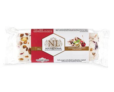 Nougat Limar Cherry Cranberry Pistachio Log 150g