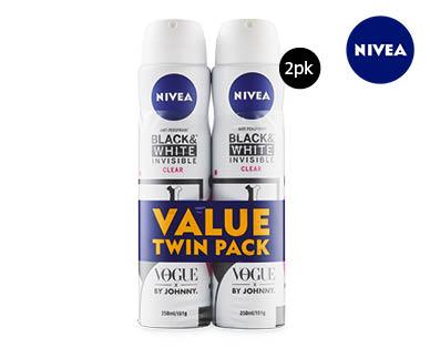 Women's Nivea Invisible Anti-Perspirant Deodorant 2x150g