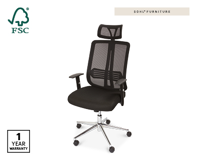 Ergonomic Office Chair – Executive Style in Black