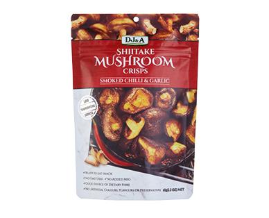 DJ&A Smoked Chilli & Garlic Shiitake Mushroom Crisps 65g