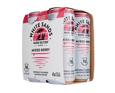 White Sands Berry Seltzer 4 x 330ml