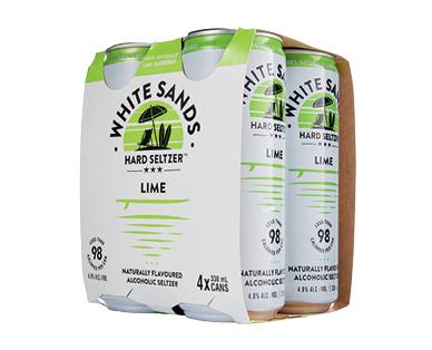 White Sands Lime Seltzer 4 x 330ml