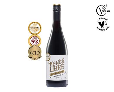 Manos Libre Organic Tempranillo Shiraz 2019 750ml