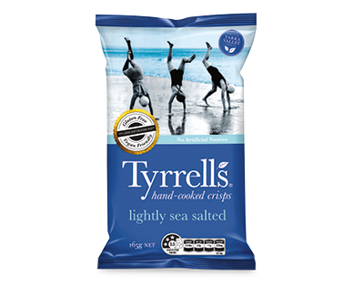 Tyrrell's Sea Salt Slow Cooked Chips 165g