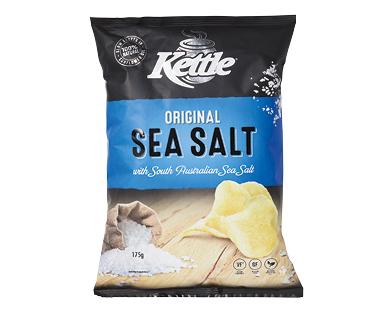 Kettle Sea Salt Slow Cooked Chips 175g