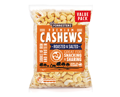 Roasted and Salted Cashews 1kg
