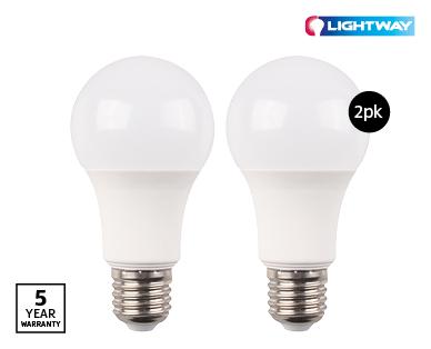 LED Globes E27 2pk Dimmable