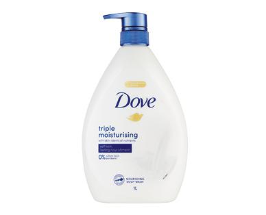 Dove Triple Moisturising Bodywash 1L