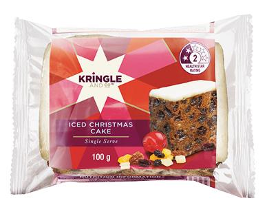 Iced Christmas Cake Slice 100g