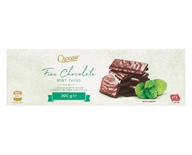 Choceur Fine Dark Chocolate Mint Filled Thins 300g