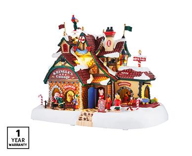 Lemax Musical Village Scene – Kringle's Cottage