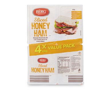 Berg Sliced Honey Ham 4x100g