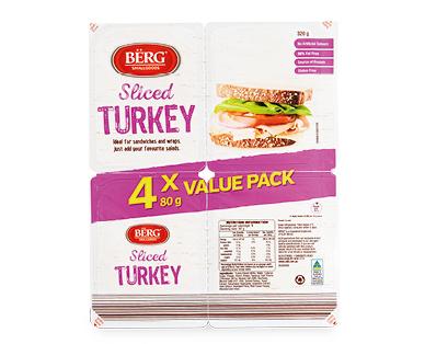 Berg Sliced Turkey 4x80g
