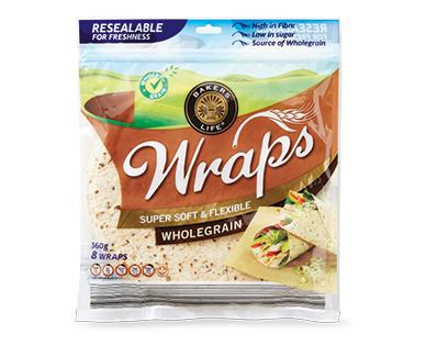 Bakers Life Wholegrain Wraps 8pk