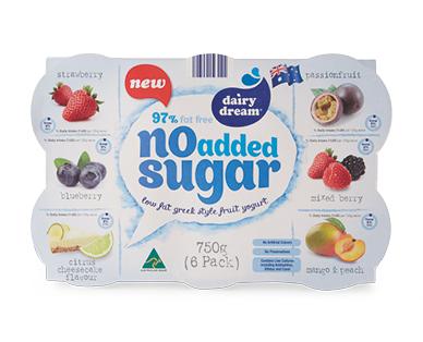 Dairy Dream Greek No Added Sugar Yogurt 6pk