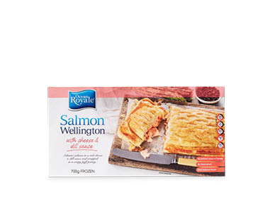 Salmon Wellington with Cheese and Dill Sauce Frozen 700g