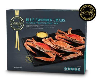 Blue Swimmer Crabs with Creamy Dijon Mustard Sauce Frozen 800g