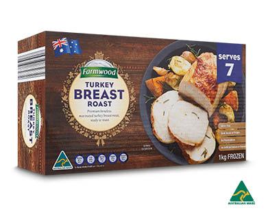 Turkey Breast Roast Frozen 1kg