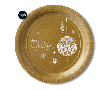 Christmas Paper Dinner Plates 10pk
