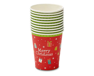 Christmas Paper Cups 10pk