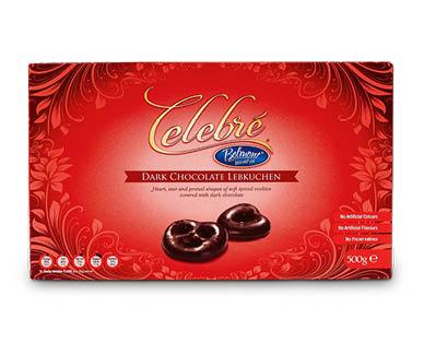 Celebre Chocolate Lebkuchen Hearts, Stars and Pretzels 500g