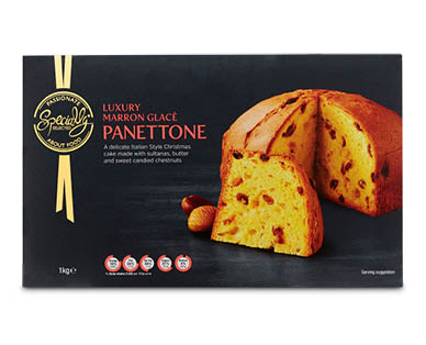 Specially Selected Luxury Marron Glacé Panettone 1kg