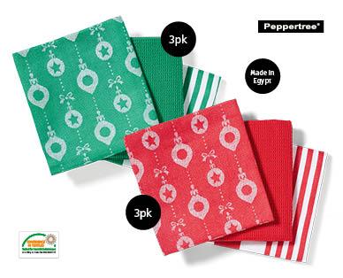 Egyptian Cotton 3 Piece Tea Towel Pack