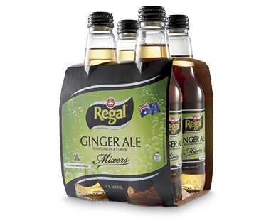 Regal Ginger Ale Mixers 4x300ml