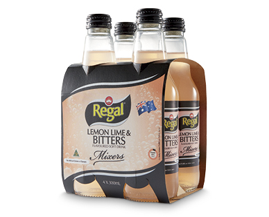 Regal Lemon, Lime & Bitters Mixers 4x300ml
