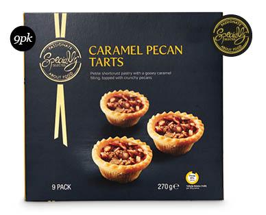 Specially Selected Mini Christmas Tarts 9pk/270g - Caramel Pecan