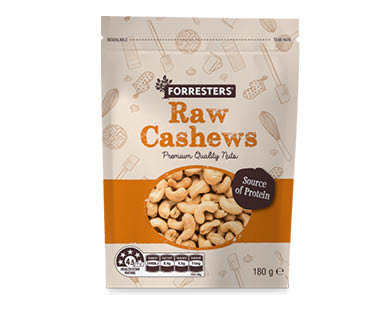 Forresters Baking Nuts - Whole Cashews 180g