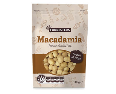 Forresters Baking Nuts - Macadamia Halves 110g
