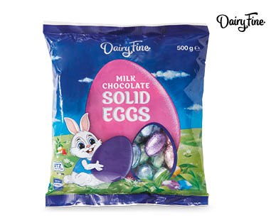 Dairy Fine Chocolate Solid Eggs 500g